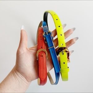 Accessories - Lot of 3 - vintage skinny belts (incl. snake skin)